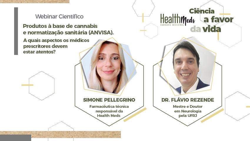Webinar Científico - Produtos à base de cannabis e normatização sanitária (ANVISA).