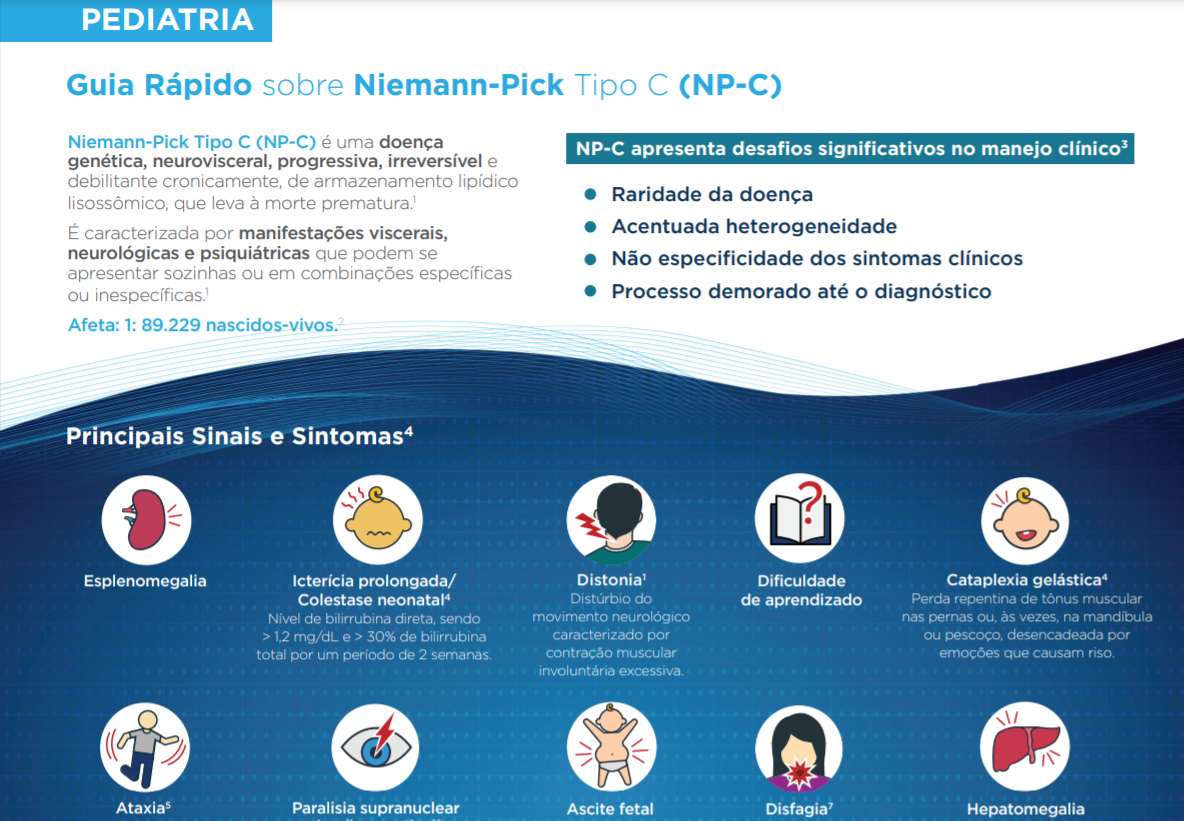Sinais e Sintomas de Niemann-Pick tipo C na Pediatria