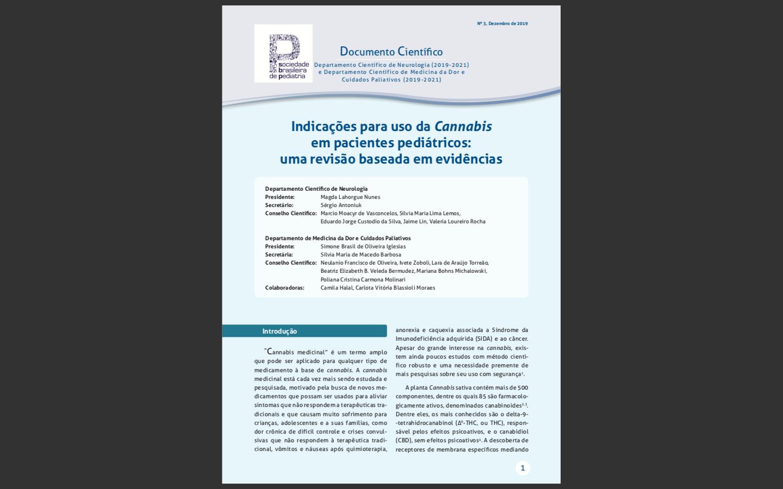 Documento Científico - Indicações para uso da Cannabis em pacientes pediátricos: uma revisão baseada em evidências
